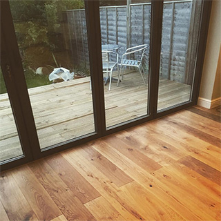 Fitted engineered oak flooring