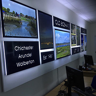 Installation of LED signage for estate agents