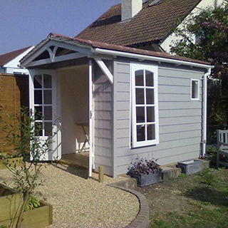 Bespoke summer house and landscaping