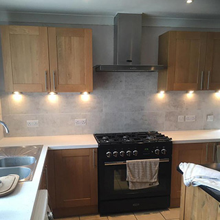 New fitted kitchen and lighting